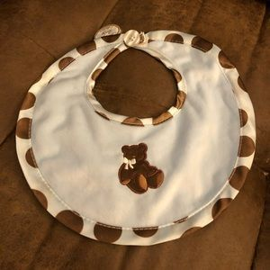 Blue/Brown Boutique Bib NWT
